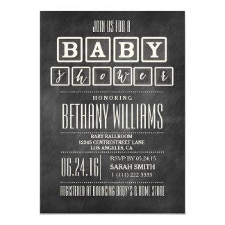 chalkboard baby shower invitations  announcements  zazzle, Baby shower invitations