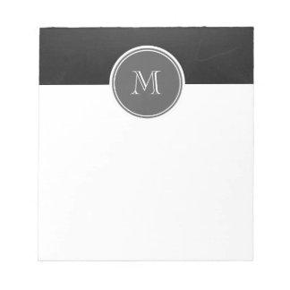 Rustic Chalkboard Background Monogram Memo Notepads