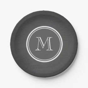 Rustic Chalkboard Background Monogram 7 Inch Paper Plate  sc 1 st  Pretty Pattern Gifts & Personalized Paper Plates - Pretty Pattern Gifts