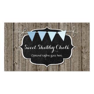 Rustic Chalkboard Bunting - Sweet Shabby Chalk Business Card