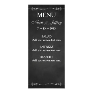 Rustic Chalkboard Eat Drink Be Married Wedding Card