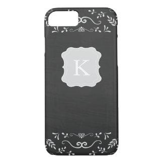 Rustic Chalkboard Flourish Design iPhone 8/7 Case