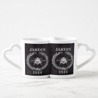 rustic chalkboard french country vintage bee coffee mug set