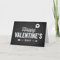 RUSTIC CHALKBOARD HAPPY VALENTINE'S DAY CARD