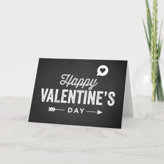 RUSTIC CHALKBOARD HAPPY VALENTINE'S DAY CARD