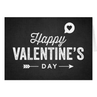 Rustic Chalkboard Happy Valentine's Day Card at Zazzle