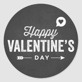RUSTIC CHALKBOARD HAPPY VALENTINE'S DAY STICKER