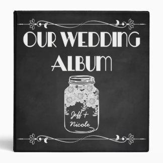 Rustic Chalkboard Mason Jar Wedding Photo Album Binder