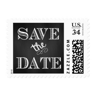 Rustic Chalkboard Save the Date Stamps