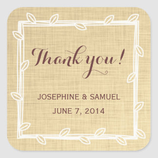 Rustic Chalkboard Thank You Stickers