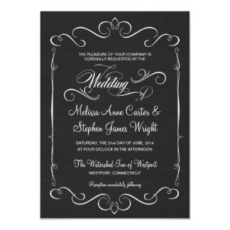 Rustic Chalkboard Wedding Invitations