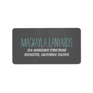 Rustic Chalkboard Wedding Label