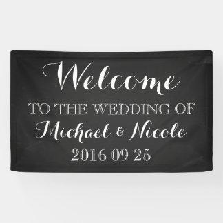 Rustic Chalkboard Wedding Welcome Sign Custom Banner
