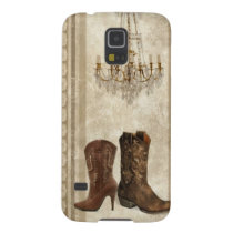 Rustic Chandelier cowboy Western country Case For Galaxy S5