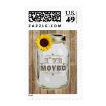 Rustic Change Of Address Mason Jar Sunflower I've Stamps