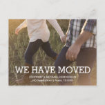 """Rustic Change of Address Photo Announcement Postcard<br><div class=""""desc"""">Rustic style Change of Address postcard. Easily add your photo and on the back your address information.</div>"""