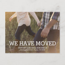 Rustic Change of Address Photo Announcement Postcard