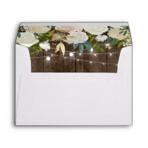 Rustic Charm Chic Floral String Lights for 5x7 Envelope