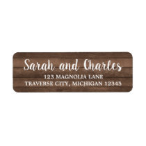 Rustic Charm Dark Wood Address Label