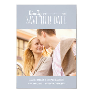 Rustic Charm | Photo Save the Date Card