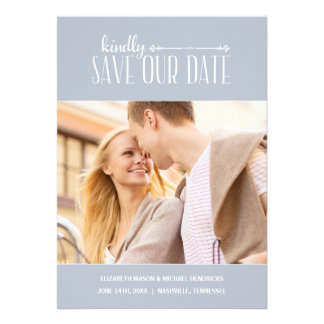 Rustic Charm | Photo Save the Date Personalized Invitation
