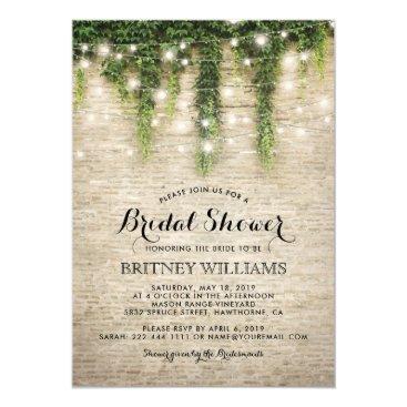 special_stationery Rustic Chateau Stone Church Wedding Bridal Shower Card