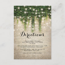 Rustic Chateau Stone Church Wedding Directions Enclosure Card