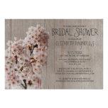Rustic Cherry Blossom Bridal Shower Invitations Personalized Invite