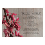 Rustic Cherry Blossoms Bridal Shower Invitations Personalized Announcement
