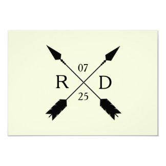Rustic Chic   Arrow Custom   RSVP Card