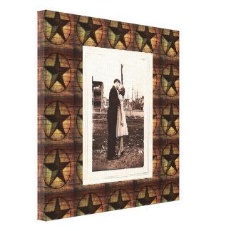 rustic chic barn wood texas star western wedding gallery wrapped canvas