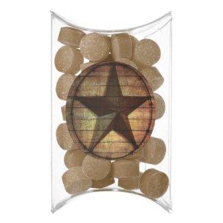 rustic chic barn wood texas star western wedding chewing gum favors