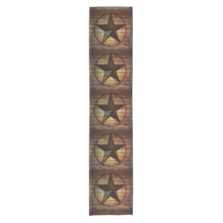 rustic chic barn wood texas star western wedding short table runner