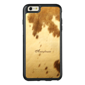 Rustic Chic Beige Brown Long Horn Animal Prints OtterBox iPhone 6/6s Plus Case