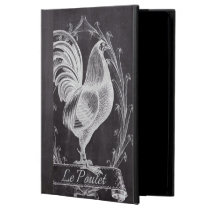 rustic chic blackboard french country rooster cover for iPad air