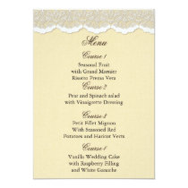Rustic Chic burlap and lace country wedding Card