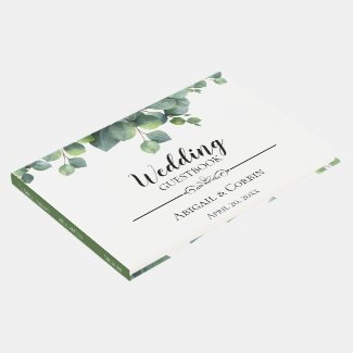 Rustic Chic Eucalyptus Bouquet Wedding Guest Book
