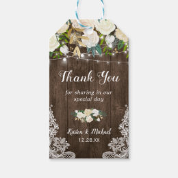 Rustic Chic Floral Lace Wedding Favor Thank You Gift Tags