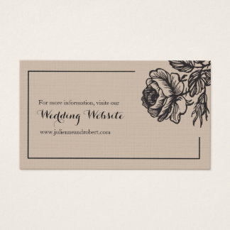 Rustic Chic Fl Simple Wedding Rsvp Website Business Card