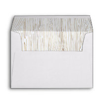 Rustic Chic Gold Wood Lined Wedding Envelope