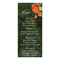 Rustic Chic Green Vintage Rose Wedding Rack Card