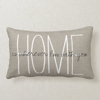 Rustic Chic Home Lumbar Pillow