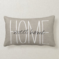 Rustic Chic Home Sweet Home Lumbar Pillow