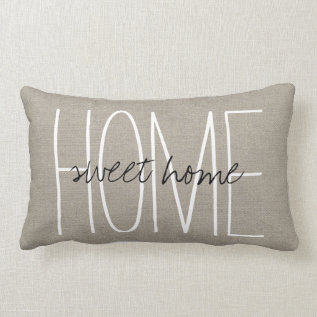 Rustic Chic Home Sweet Home Lumbar Pillow at Zazzle