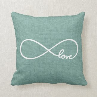 Rustic Chic Love Throw Pillows