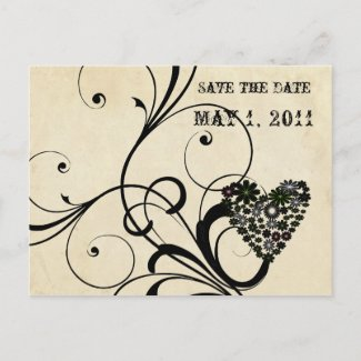 Rustic Chic Parchment Look Save the Date