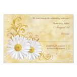 Rustic Chic Shasta Daisy Wedding RSVP Reply Announcements
