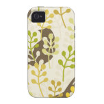 Rustic chic sparrow swallow bird shabby pattern iPhone 4/4S cover