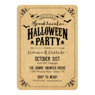 Rustic Chic Spooktacular Halloween Party Card