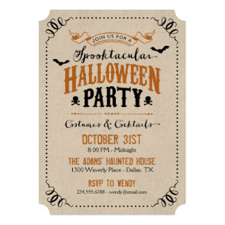 Rustic Chic Spooktacular Halloween Party Personalized Invite
